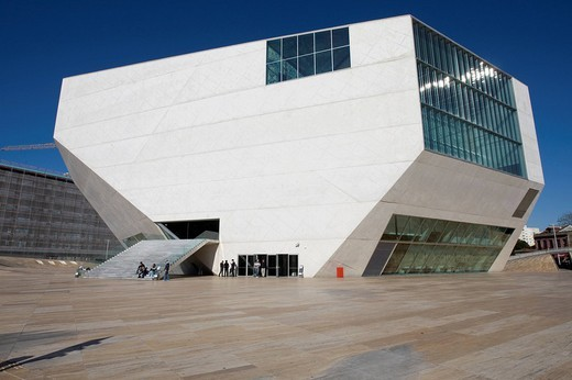Casa Da Musica, House of Music, opera house finished in 2005, designed by dutch architect Rem Koolhaas, Porto, UNESCO World Cultural Heritage Site, Portugal, Europe : Stock Photo