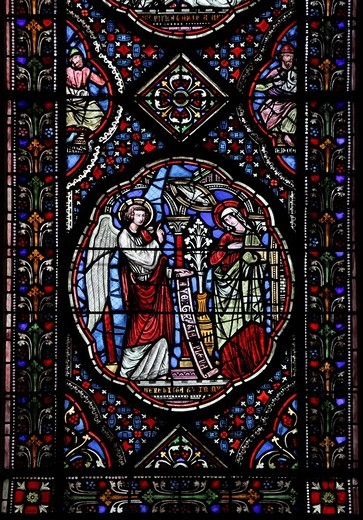 Stock Photo: 1848-134939 Window of the Notre Dame de Coutances Cathedral, Manche, Basse_Normandie, Normandy, France, Europe