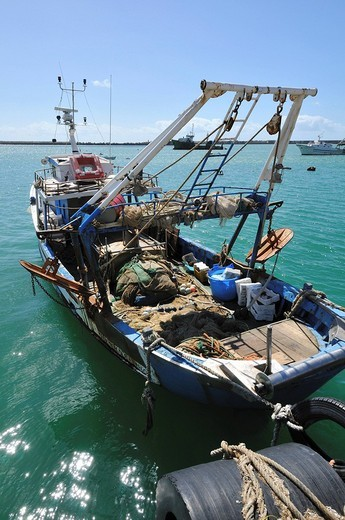 Stock Photo: 1848-135923 Fishing cutter in the harbour of Licate, Sicily, Italy, Europe