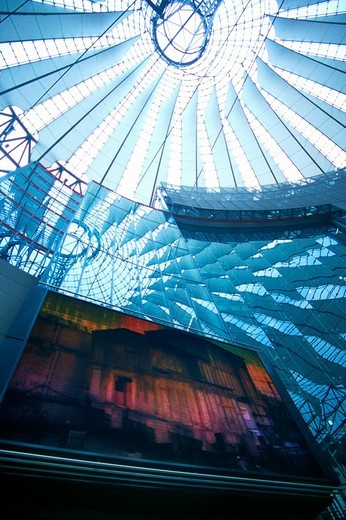 Dome of the Sony Center, Berlin, Germany : Stock Photo