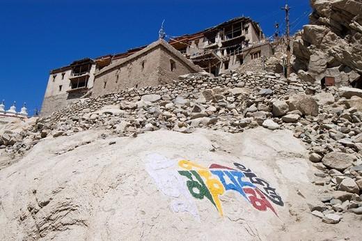 Shey monastery in Ladakh, Indus valley, Jammu and Kashmir, India : Stock Photo