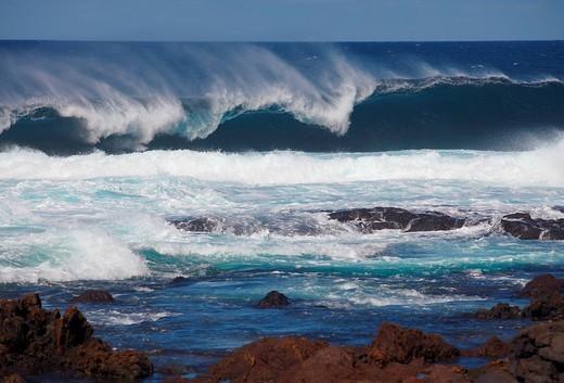 Surge, Atlantic Ocean, Tenerife, Spain : Stock Photo