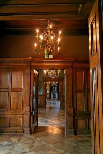 Stock Photo: 1848-136735 Chandelier and doorways at Castle Grafenegg, Lower Austria, Austria