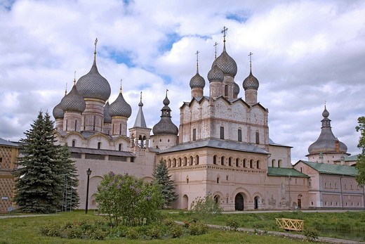 Assumption cathedral, Kremlin, Rostov, Russia : Stock Photo