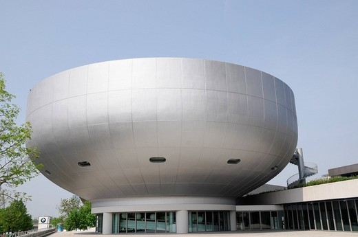 Detail, exterior view, BMW Museum, Munich, Bavaria, Germany, Europe : Stock Photo