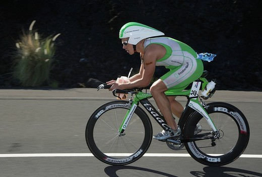 Triathlet Jan Raphael GER during the Ironman World Championship in Kailua_Kona Hawaii USA : Stock Photo