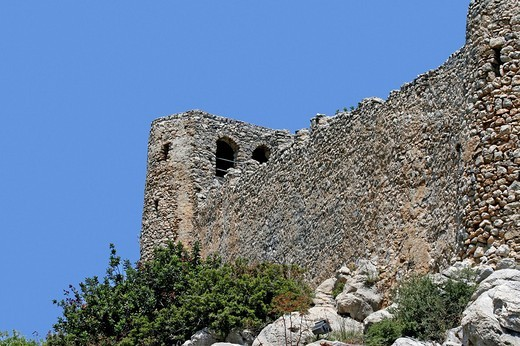 Stock Photo: 1848-137559 Crusader castle Saint Hilarion, Kyrenia, Northern Cyprus, Cyprus