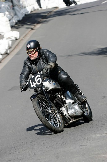 Stock Photo: 1848-137640 Vintage motorcycle festival, Schotten, Hesse, Germany, Europe
