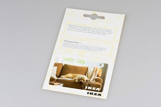 Ikea gift certificate, gift card : Stock Photo
