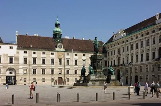Amalienburg Wing of the Hofburg Imperial Palace, Vienna, Austria, Europe : Stock Photo