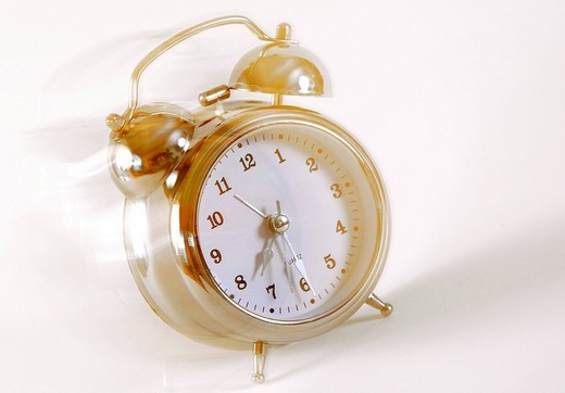 Alarm clock with motion blur : Stock Photo
