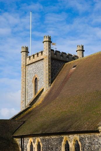 Remenham St Nicholas Church, Remenham, Oxfordshire, England, United Kingdom, Europe : Stock Photo