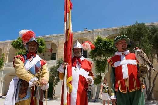 In Guardia Parade at Fort St Elmo, Valletta, Malta, Europe : Stock Photo