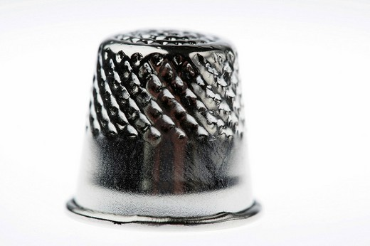 Thimble made of metal : Stock Photo