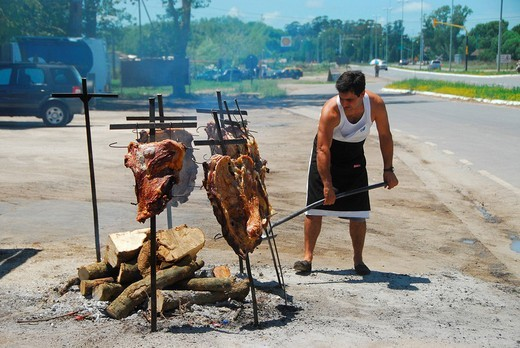 Stock Photo: 1848-139551 Asado grill, Dolores, Buenos Aires province, Argentina