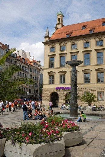 Pedestrian street, Munich, Bavaria, Germany : Stock Photo