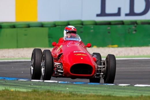 Stock Photo: 1848-139906 Ferrari 500, built 1952, former pilot Alberto Ascari, Jim Clark Revival Historic Grand Prix 2008, Hockenheim, Baden_Wuerttemberg, Germany, Europe