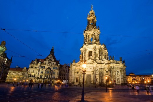 Hofkirche Church, Dresden, Saxony, Germany, Europe : Stock Photo