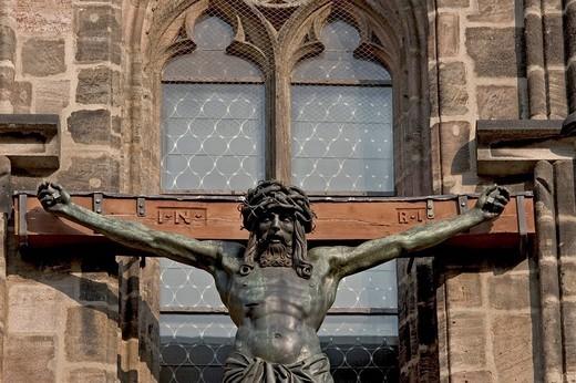 Stock Photo: 1848-141138 Crucified Christ, Sebaldus_Church, Nuremberg, Bavaria, Germany