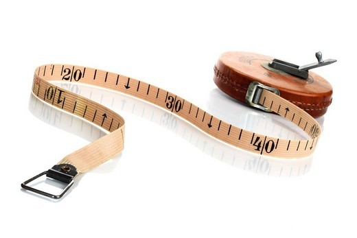 Old measuring tape : Stock Photo