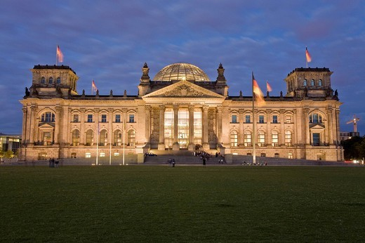 Stock Photo: 1848-141298 Reichstag with place of the republic, Berlin, Germany