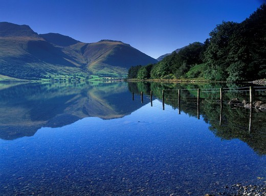 Wastwater, Lake District, Cumbria, United Kingdom, Europe : Stock Photo