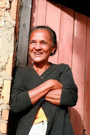 Stock Photo: 1848-141857 Old woman, Trinidad, Sancti_Spiritus Province, Cuba, Latin America
