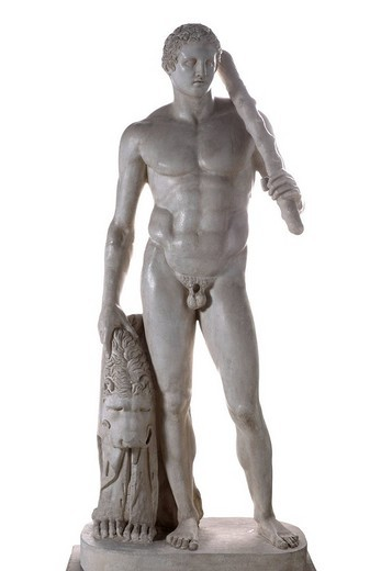 Heracles, Herakles of Lansdowne, sculpture by Scopas, Skopas : Stock Photo