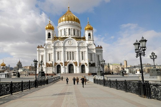 Stock Photo: 1848-142533 Cathedral of Christ the Saviour, Moscow, Russia