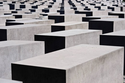 Stelenfeld commemorating the mass murder of the Jews in Europe, Berlin, Germany, Europe : Stock Photo