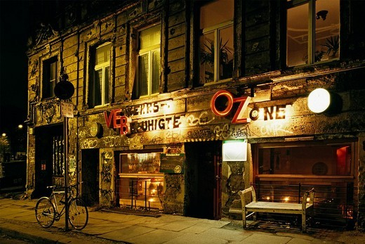 Stock Photo: 1848-143088 Former east german bar in a dilapidated house in the center of Oranienburger Strasse, Berlin, Germany
