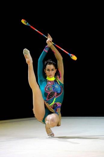 RG Carolina RODRIGUEZ ESP Rhythm Gymnastics : Stock Photo