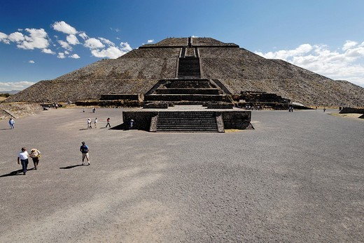 Piramide del Sol, Sun pyramid, Teotihuacan, Mexico : Stock Photo