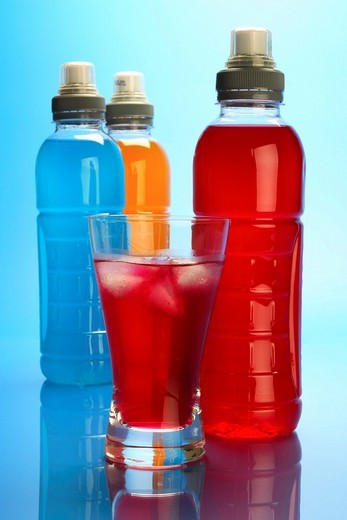 Various isotonic drinks : Stock Photo
