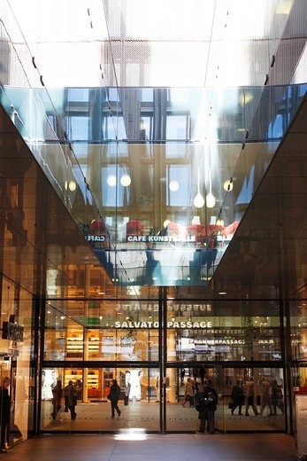 Fuenf Hoehe shopping passage, Munich, Bavaria, Germany : Stock Photo