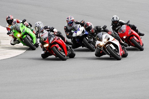 Motorcycles on a racing course : Stock Photo