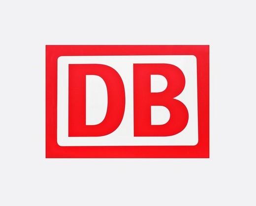 DB, Deutsche Bahn, German railways, logo : Stock Photo