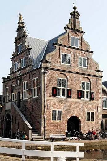 Stock Photo: 1848-144558 Former city hall from the 17th century, De Rijp near Alkmaar, Province of North Holland, Netherlands, Europe