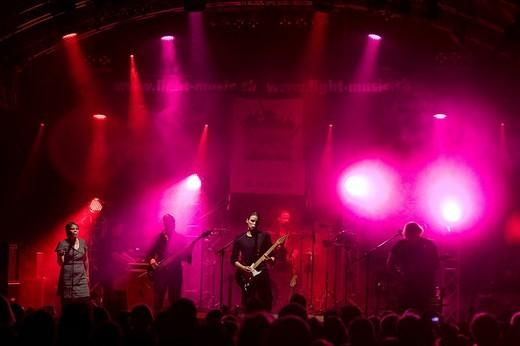 Swiss band Pink Floyd Crazy Diamond live at the Autlook festival in Schenkon, Lucerne, Switzerland : Stock Photo