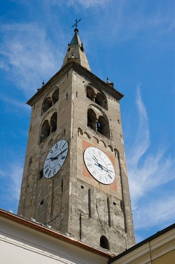 Aosta Cathedral, La Cattedrale di Aosta, Piazza Giovanni XXIII, Aosta, Aosta Valley, Valle d´Aosta, Italy, Europe : Stock Photo