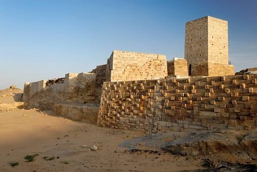 Antique dam of Marib, northern watergate, Yemen : Stock Photo