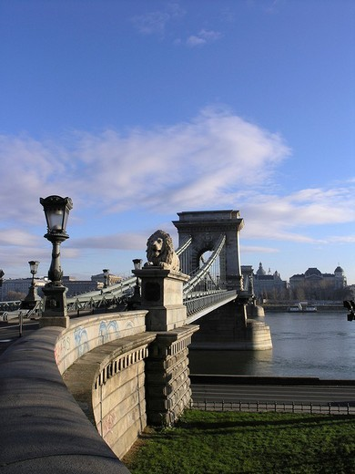 Stock Photo: 1848-145158 Chain bridge Budapest Hungary