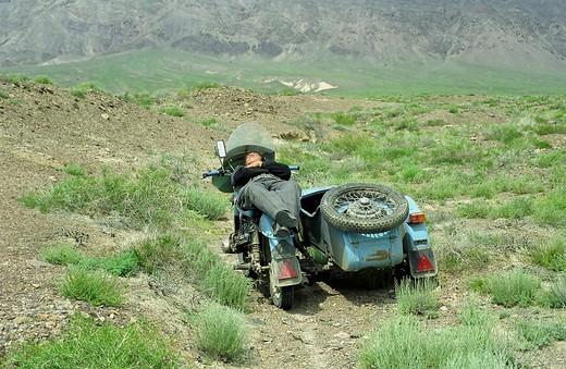 After lunch sleep. Akkol canyon, Kazakhstan. : Stock Photo