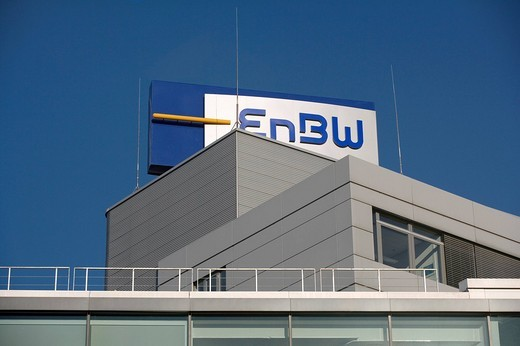 Headquarters of the EnBW Energie Baden_Wuerttemberg AG, KARLSRUHE, GERMANY, 19.02.2008. : Stock Photo