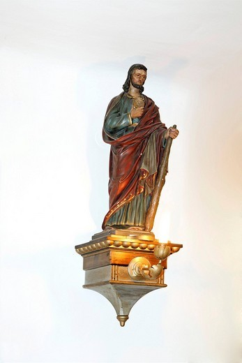 Stock Photo: 1848-145754 Statue of St. Jude Thaddeus Judas, parish church, St. Veit, Triestingtal, Lower Austria, Austria