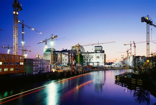 Stock Photo: 1848-146116 Building site Reichstag building, Berlin, Germany
