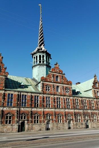Historic Stock Exchange building, Copenhagen, Denmark, Scandinavia, Europe : Stock Photo