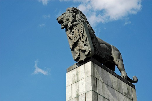 Stock Photo: 1848-147215 Lion, heraldic animal of the former Czechoslovakia, Bratislava, Slovakia