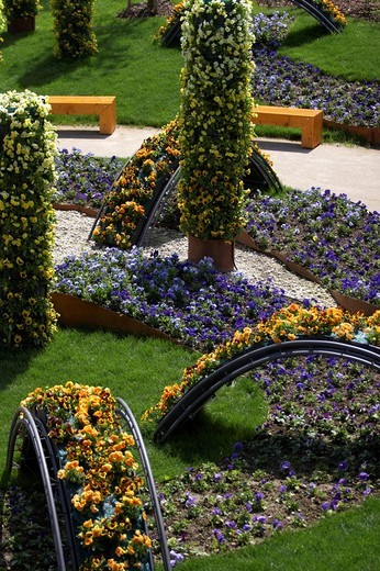 Gardening Exhibition Voecklabruck 2007, Germany : Stock Photo