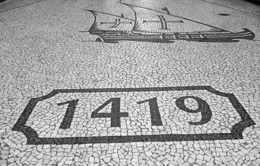 Stock Photo: 1848-147359 Pavement in Funchal, Madeira, Portugal